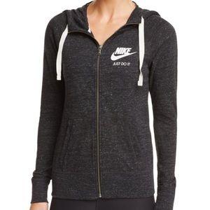 Nike Gym Vintage Zip Hoodie—Heather Black